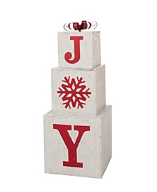 Wooden Block Wording Porch Sign - Joy