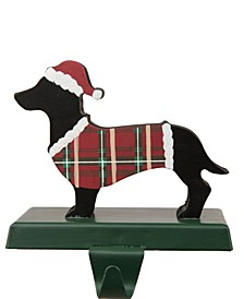 Wooden, Metal Dachhound Stocking Holder