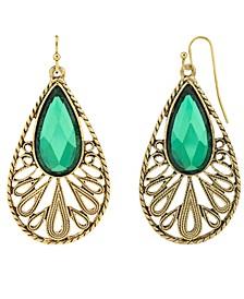 Gold-Tone Teardrop Earrings
