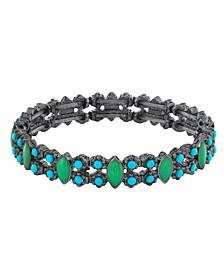 Black-Tone Stretch Bracelet