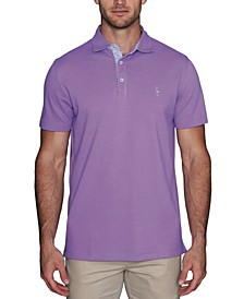 Men's Classic Polo with Contrast Pattern