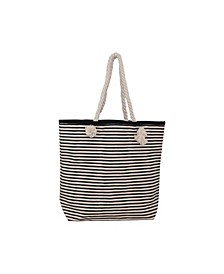 Knotted Rope Tote Stripes