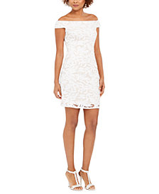 Adrianna Papell Sequin Leaf Dress