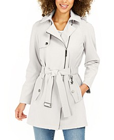 Belted Water-Resistant Raincoat