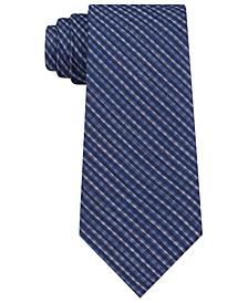 Men's Slim Offset Mini-Check Tie