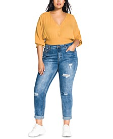 Trendy Plus Size Street Wise Ripped Skinny Jeans