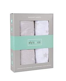 Jersey Cotton Bassinet Sheet Set 2 Pack