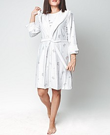 Mood Pajama Sleepy Cat-Ultra Soft Nightgown & Robe Set, Online Only