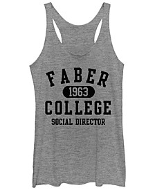Animal House Faber College Social Director Tri-Blend Racer Back Tank