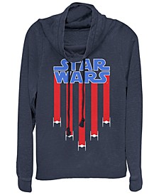 Star Wars Fighter Jets Star Bangled Banner Cowl Neck Sweater