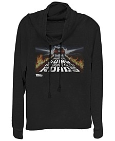 Back To the Future We Don't Need Roads Cowl Neck Sweater