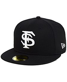 Florida State Seminoles Core Black White 59FIFTY Fitted Cap