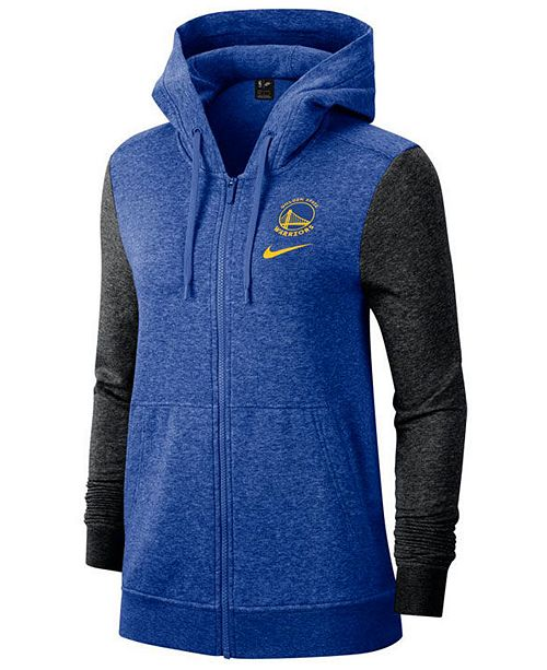Nike Women's Golden State Warriors Full-Zip Club Fleece Jacket