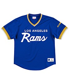 Men's Los Angeles Rams Special Script Mesh V-Neck Top