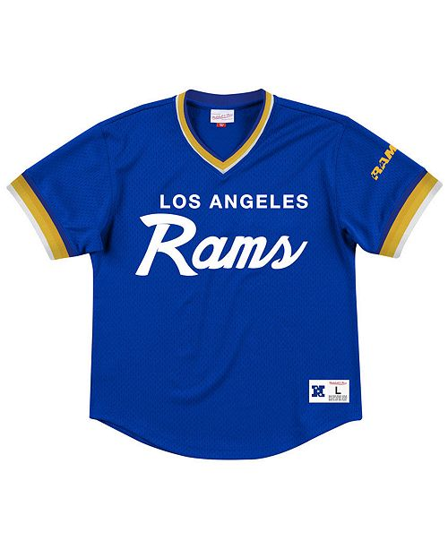 Mitchell & Ness Men's Los Angeles Rams Special Script Mesh V-Neck Top