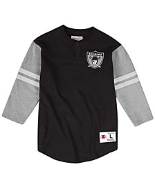 Men's Oakland Raiders Team Logo Henley Top