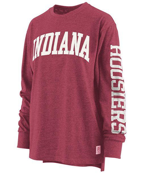 Royce Apparel Inc Women's Indiana Hoosiers Canyon Long Sleeve T-Shirt