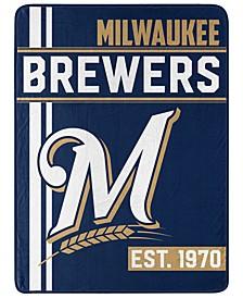Milwaukee Brewers Micro Raschel Walk Off Throw Blanket