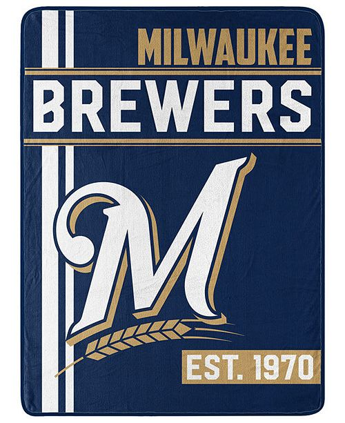Northwest Company Milwaukee Brewers Micro Raschel Walk Off Throw Blanket