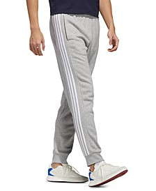 Men's Essential 3-Stripe Fleece Pants