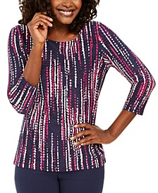 Printed Garland-Textured Top, Created for Macy's