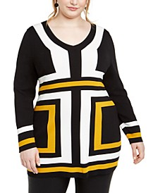 INC Plus Size Colorblocked Tunic, Created For Macy's