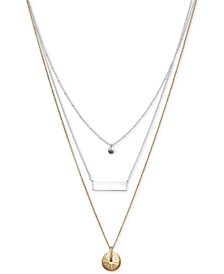 "Two-Tone Convertible 16"" Layered Necklace"