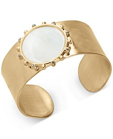 Gold-Tone Mother-of-Pearl Cuff Bracelet