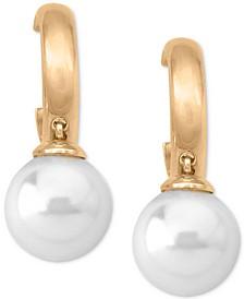 Imitation Pearl (10mm) Drop Earrings