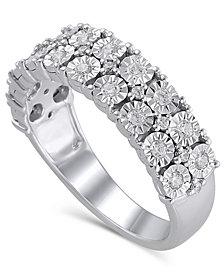 Certified Diamond (3/8 ct. t.w.) Anniversary in 14K White Gold