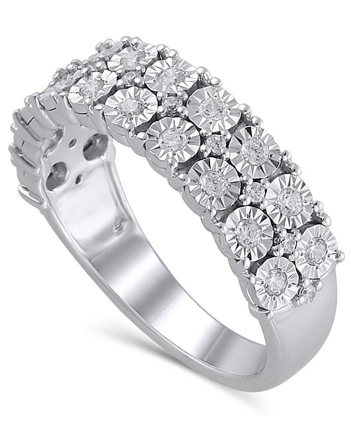 Macy's - Certified Diamond (3/8 ct. t.w.) Anniversary in 14K White Gold