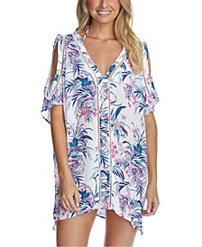 Juniors' Paraiso Printed Samba Caftan Cover-Up