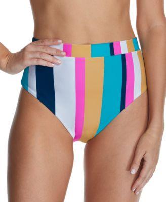 Juniors' Belle Mar Tripoli High-Waist Bikini Bottoms, Created For Macy's