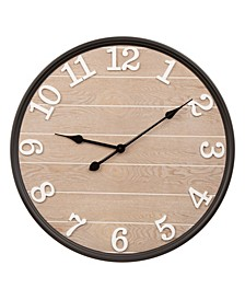 Farmhouse Metal and Wooden Wall Clock