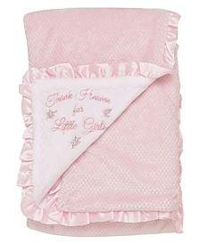 Baby Girls Thank Heaven Textured Blanket
