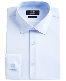 Men's Slim-Fit Performance 4-Way Stretch Tech Light Blue Solid Dress Shirt