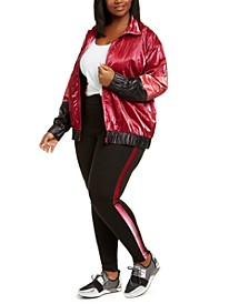 Trendy Plus Size Colorblocked Active Jacket