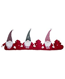 Fabric Red Christmas Gnome Santa Draft Dodger