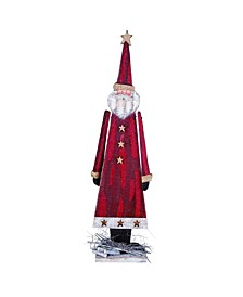 Wood Small Red Christmas Rustic Santa