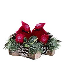 Pinecone Small Red Christmas Cardinal Decor