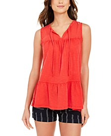 Cotton Sleeveless Peasant Top, Created for Macy's