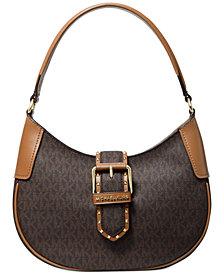 Michael Michael Kors Lillian Signature Logo Shoulder Bag