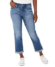 Curvy-Fit Cuffed Girlfriend Jeans, Created for Macy's