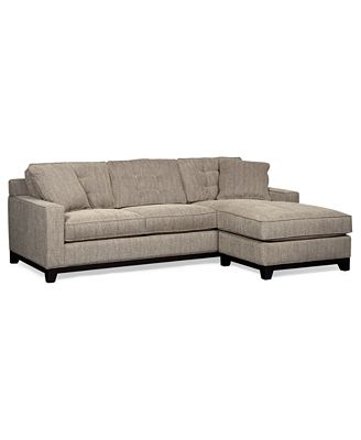 Clarke Fabric 2 Piece Sectional Sofa ly at Macy s