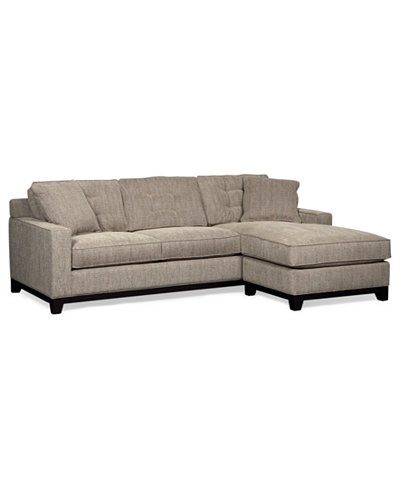 Clarke Fabric 2 Piece Sectional Sofa Only At Macy 39 S
