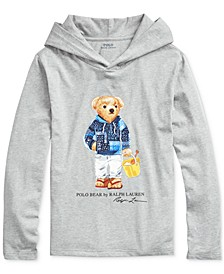 Big Boys Beach Bear Cotton Hooded T-Shirt
