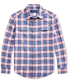 Big Boys Plaid Cotton Twill Workshirt
