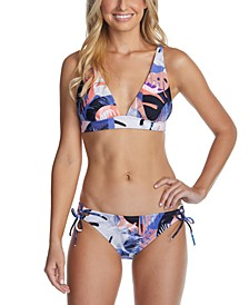 Juniors' Halter Bikini Top & Side-Tie Bottoms