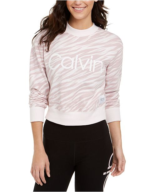 Calvin Klein Cotton Zebra-Print Top