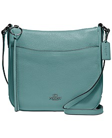 Chaise Crossbody in Polished Pebble Leather